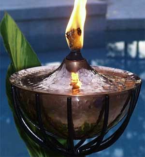 Copper Maui Tiki Torch