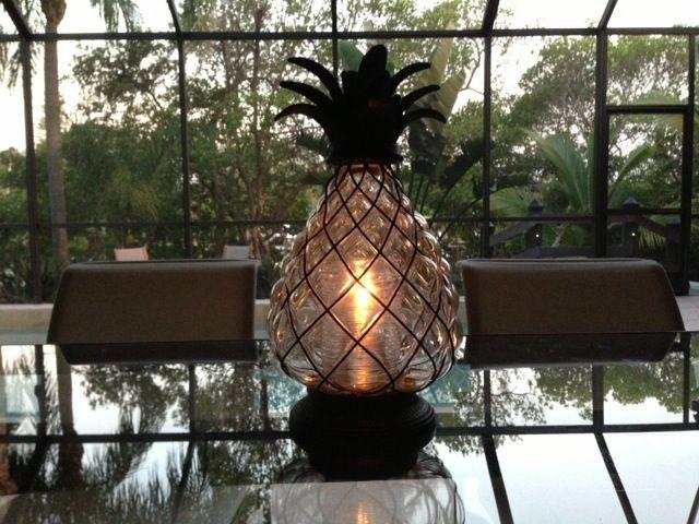 Frontgate Pineapple Hurricane Lantern