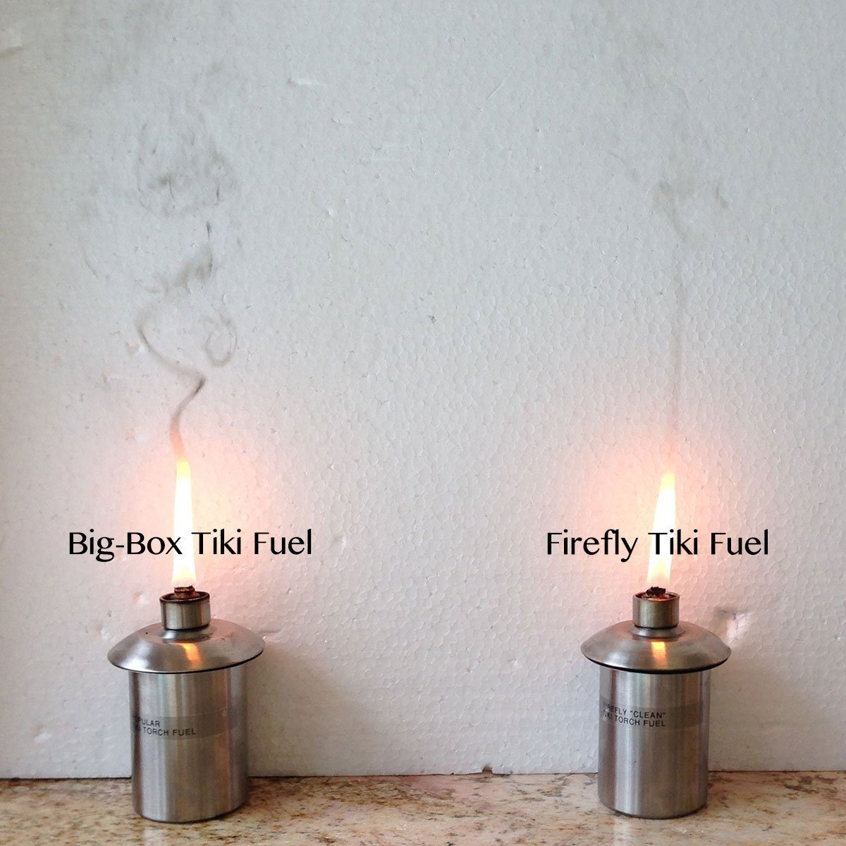 Big-Box Tiki Fuel vs. Firefly Tiki Torch Fuel