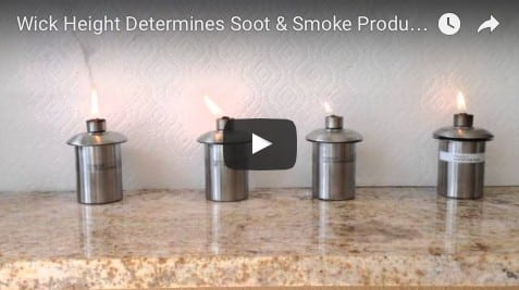 Tiki Torch Wick Heights Matter When It Comes to Performance, Smoke and Soot