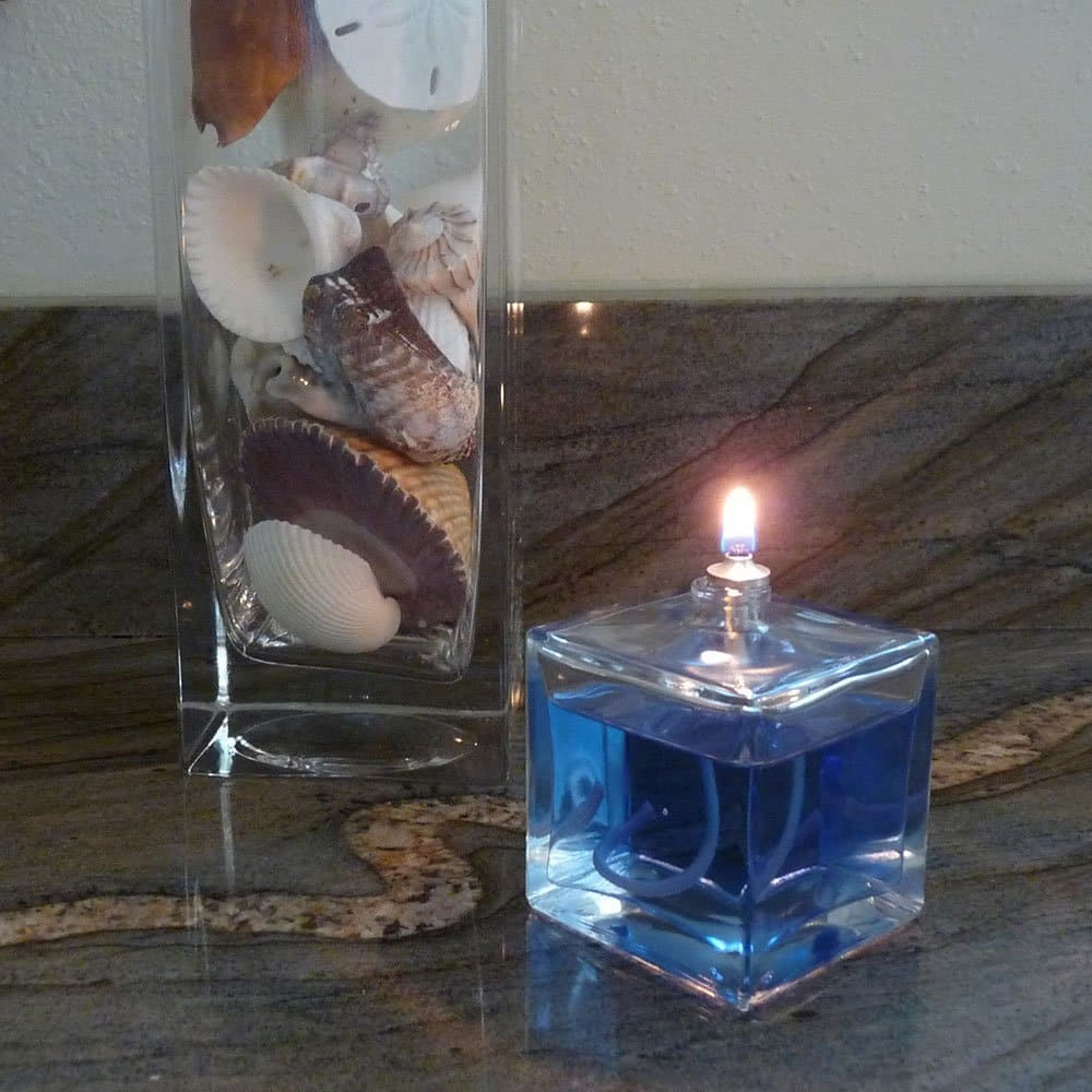 Firefly Aura Petitle Oil Lamp Shown with Blue Dye