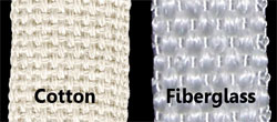 fiberglass vs. cotton wicks