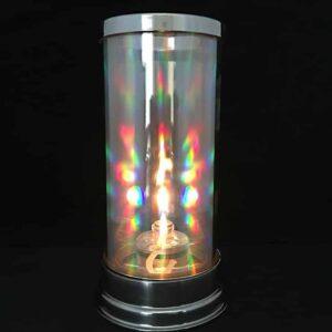 tealight in prism hurricane lantern
