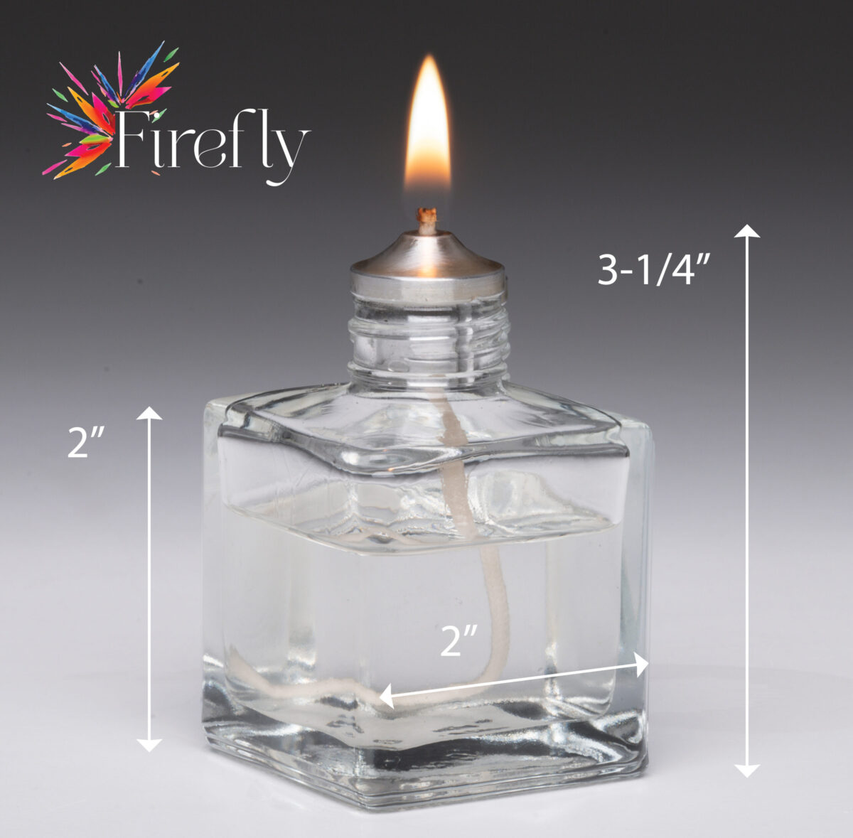 Firefly Aura Petite Refillable Glass Candle dimensions