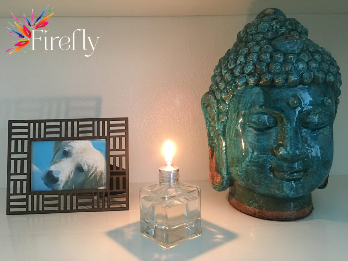 Firefly Aura Petite Refillable Glass Candle