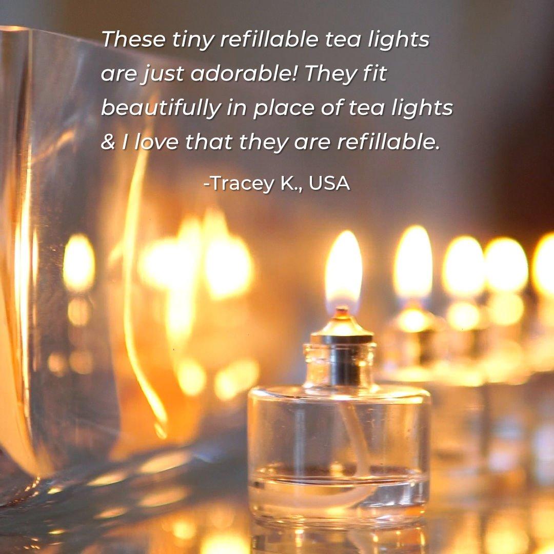 refillable tea light candles